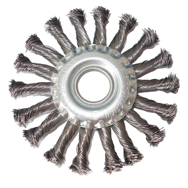 10x Drahtbürste Ø125mm Scheibenbürste Zopfbürste Rundbürste Gezopft Flex